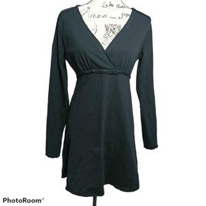 Prana Mikayla Black Slub Cotton Dress  M